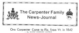 The Carpenter Family News Journal Excerpt